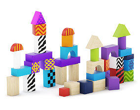 Wooden Blocks 3D model