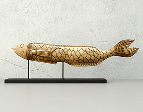 Hand Carved Wood Fish 3D