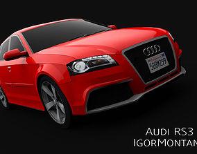 3D model low-poly Audi RS3