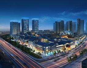 commercial City Planning 3D model