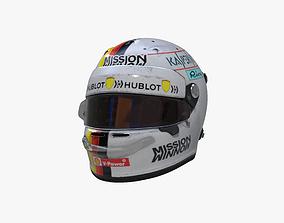 Vettel helmet 2019 3D asset