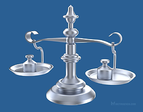 3D model Classic scale with weights