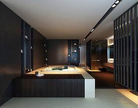 Wardrobe and Bathroom 3D model