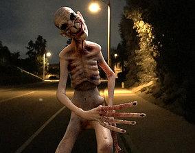 3D model creepy bald dude