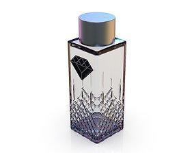3D model Diamond cosmetics bottle - 33x33 mm - V - 60 mL