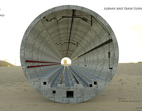 SUBWAY AND TRAIN TUNNEL DESIGN 3D model