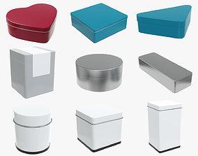 3D metal tin cans various shapes