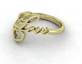 3D print model Love And Heart Gold Ring