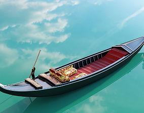 Venetian gondola 3D model