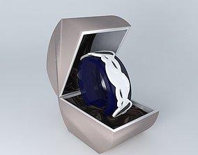 Ladies Silver/Jet Fashion Watch SEKSY 3D model