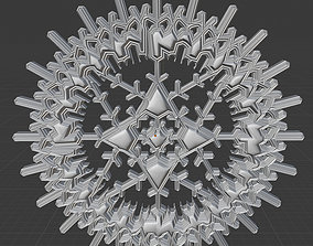 3D print model Decor Snowflake Design 2