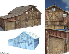 3D asset Low Poly Wild West Barn