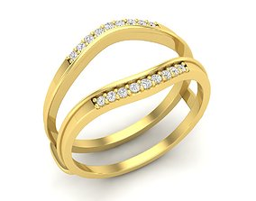 3D printable model Diamond ring Guards for woman