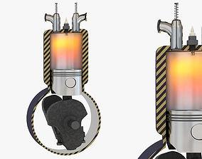 3D model Four Stroke Engine Animation