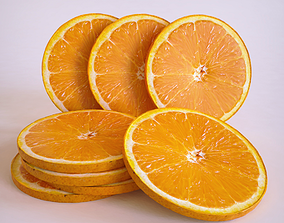 3D asset Orange slice cirlce