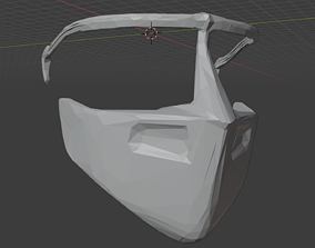 3D printable model Faceshield with clips for acetate or