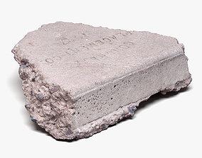 Concrete Chunk 02 - 16K Scan 3D model