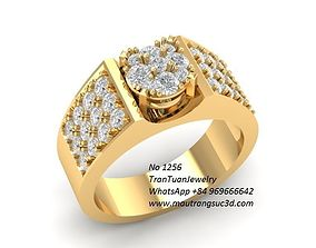 1256 luxury korea diamond ring for men 3D print model