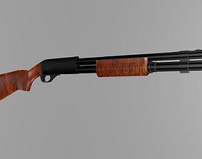 3D model Remington 870 low poly