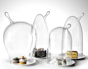 3D model Glass Domes with Dessert