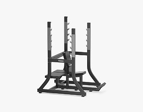 Technogym Pure Olympic Military Bench 3D model