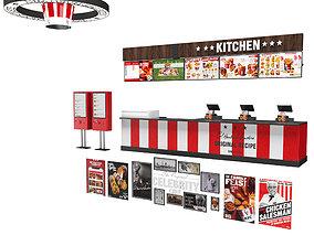 KFC equipment 3D model