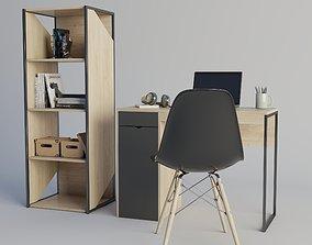 Home Office Setup interior 3D