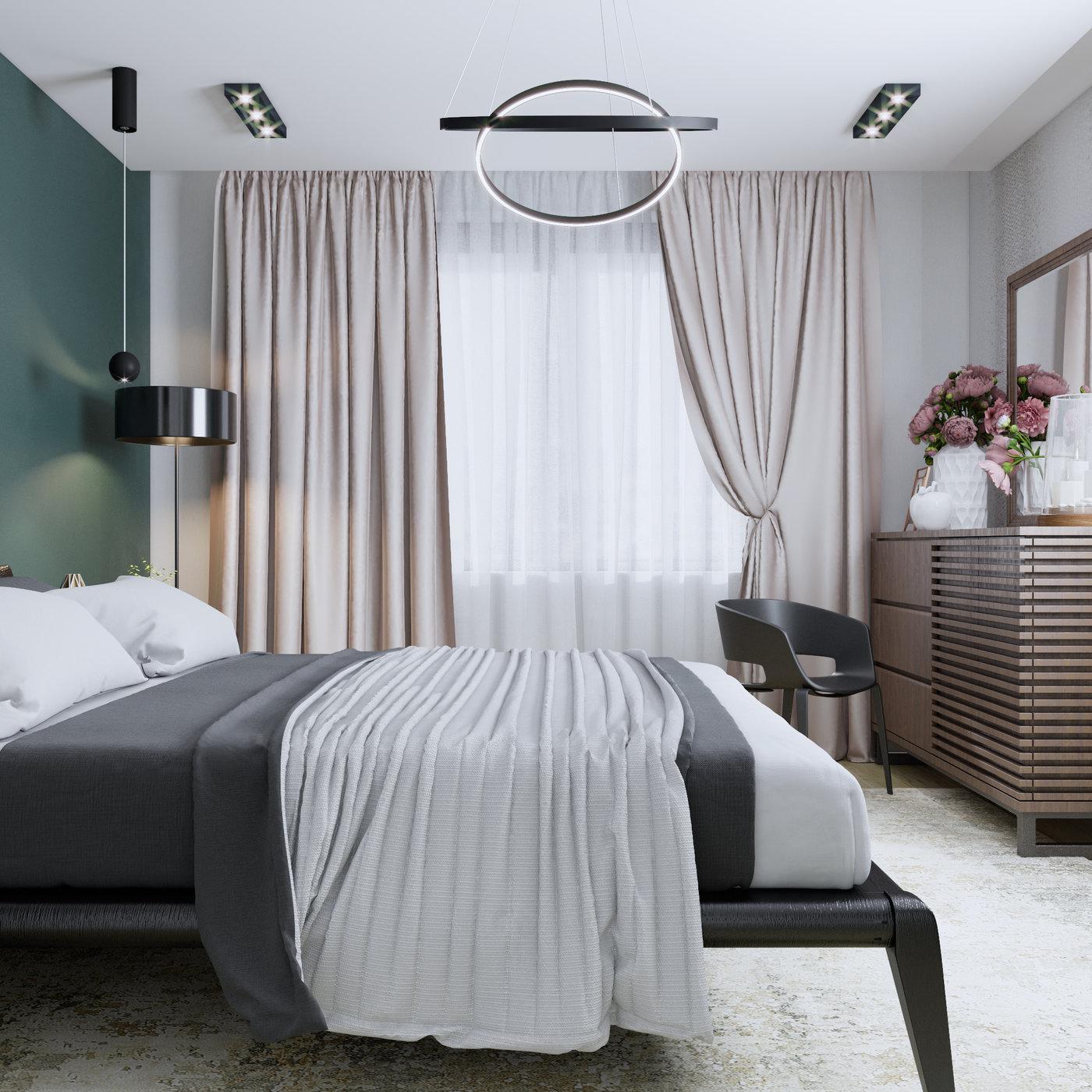 Bedroom done by 3DAG with eklektika
