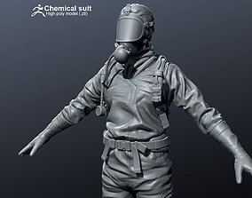 Chamical Hazmat Suit High-poly 3D