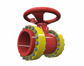 Industrial pipeline valve 7 3D model