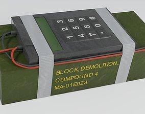 3D model C4 Bomb - Improvised explosive device
