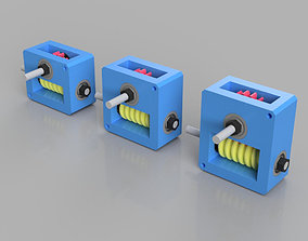 Worm Gear Boxes 3D print model