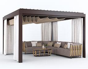 Garden Arbor with sofa Eivissa Ethimo 3D model