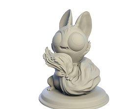 Desktop figure Shy Squirrel obj 3D printable model