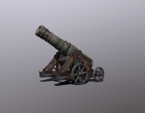 weapon 3D model realtime Cannon