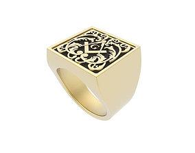 Gents Freemason Ring 3D printable model