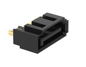 3D model Sata Connector 7 Pin Type B Female cable