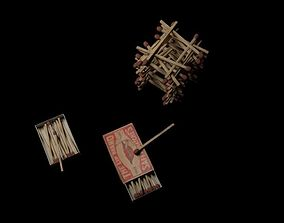 3D model Match box
