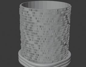 Tealight holder pixel-like texture 3D