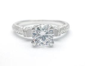 3DM Classic round cut diamond promise ring