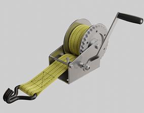 Manual winch 3D