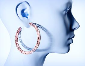 Futuristic earrings 3D printable model