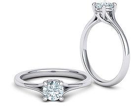 Half Carat Engagement ring 3dmodel 4 Claw design
