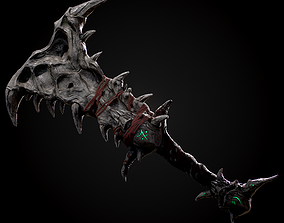 Realtime low poly sword 3D model