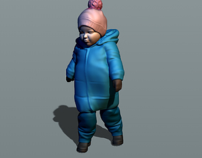 3D printable model Kid in winter suit