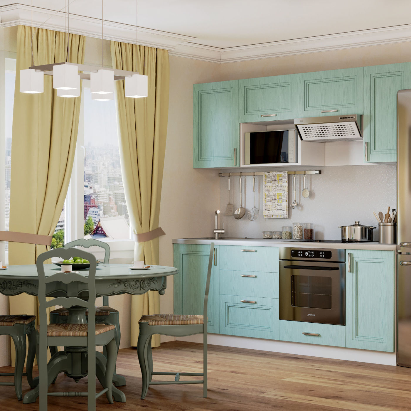 3D visualization of the kitchen interior
