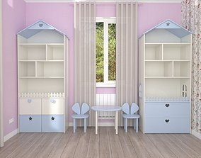 Shelving house and toy storage 3D model