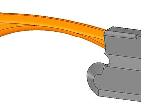 model of battle axe gun for 3D print and cnc