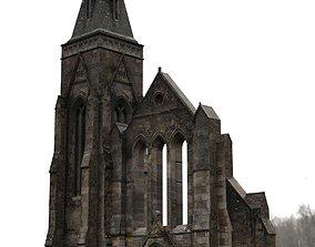 Spooky Church Facade 3D model