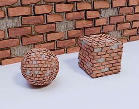 3D model Brick Wall 01 Material